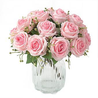 Bryllup Brud Holder Kunstig Bukett Blomster