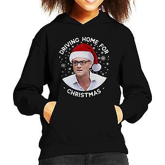 Dominic Cummings Driving Home For Christmas Kid's Hooded Sweatshirt