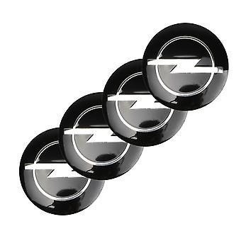 Negro Opel Car Wheel Center Tapa Hub Cubierta 60mm 4 PCS Para Insignia, Corsa, Meriva, Vectra