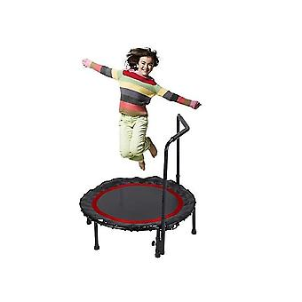 Foldable Mini Trampoline,fitness Trampoline With Adjustable Handrail And Safety Pad