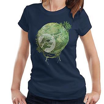 Nopea ja raivoisa Kukka Montage Women's T-paita