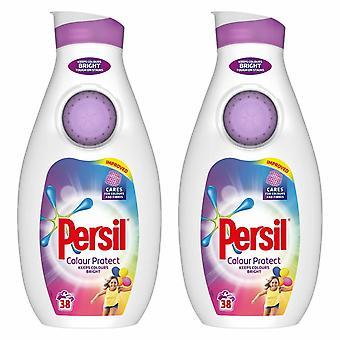 Persil Flüssigwaschmittel, Farbe, 2 Packungen mit 38 Waschungen