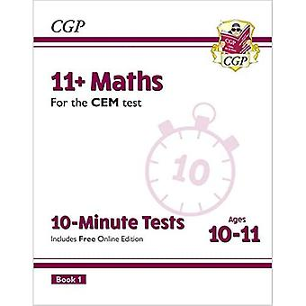 New 11+ CEM 10-Minute Tests: Maths - Ages 10-11 Book 1 (with Online Edition)