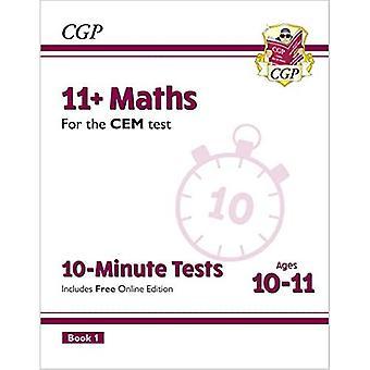 Nye 11 + CEM 10-minutters tests: matematik 10-11 bog 1 (med online udgave)