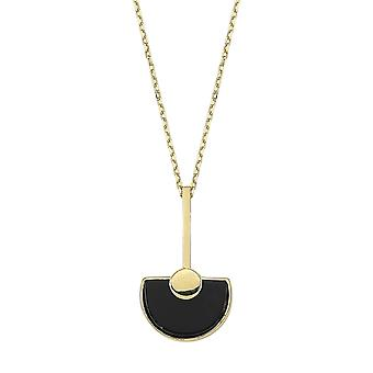 Onyx Stone Gold Necklace