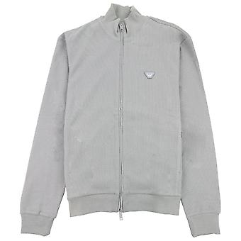 Armani Jeans Logo Trichter Hals Sweatshirt grau