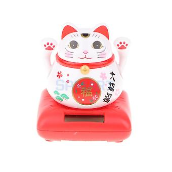 Japanese Good Fortune Solar Cat Lucky Toy Waving Arm Cat Ornament Countertop
