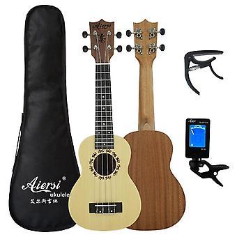 Aiersi Full Pack Ukelele Mahogany Soprano Gecko Ukulele Guitar, Musical