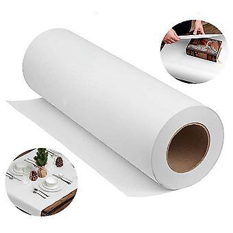 Rolo de papel kraft branco natural para casamento, festa de aniversário