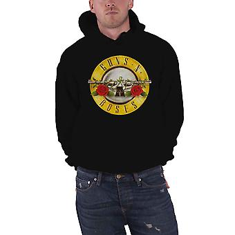 Guns N Roses Hoodie Classic Pistol Band Logo new Official Mens Black Pullover