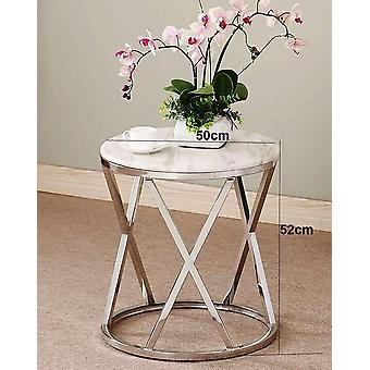 Stainless Steel Sofa Side Table Corner Table Tempered Glass Small Apartment