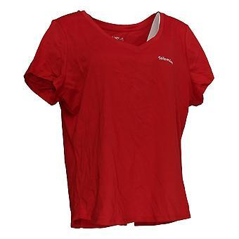 Rachel Hollis Ltd Women's Top Perfect Tee Red A354045