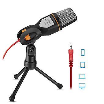 Microphone condensateur avec mini trépied et câble de convertisseur Y de 3,5 mm