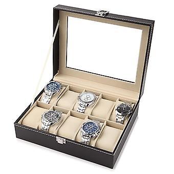 Kožené hodinky úložný box, organizátor, nové mechanické pánske hodinky držiak displeja