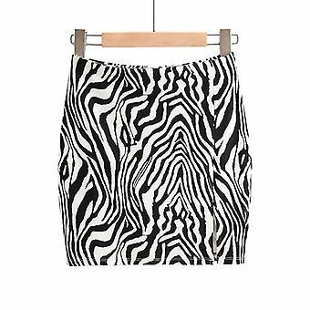 Printed High Waist Split Skirt