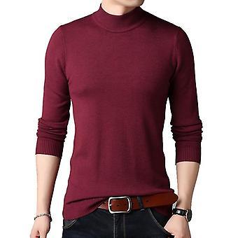 الرجال العلامة التجارية سترة الخريف سليم عارضة اللون الصلب الشباب Knitwear زائد الحجم