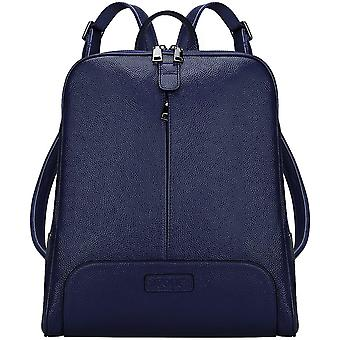 S-ZONE 14 Inch Laptop Women Genuine Leather Backpack Fashion Travel Bag