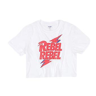 David Bowie Femmes /Ladies Rebel Rebel Crop Top
