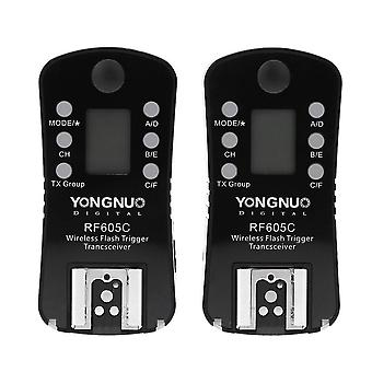 Yongnuo rf605 °c 16 channels wireless flash trigger & shutter release for canon cameras