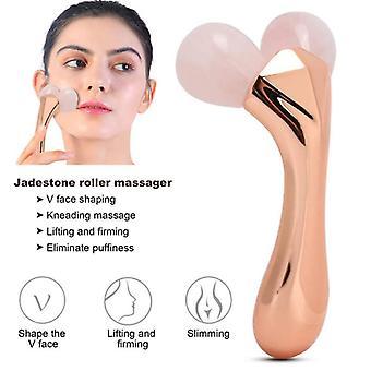 3D jadestone roller massager v face lifting tightening slimming portable body massage beauty tool