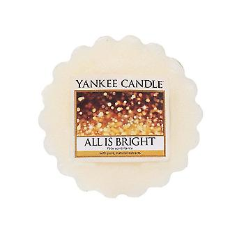 Yankee candle all is bright wax tart