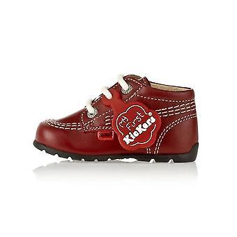 Kickers kick hi b core red baby boots