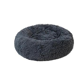 Dark Grey Plush Kennel Dogs Pet Litter Deep Sleep Cat Litter Sleeping Bed