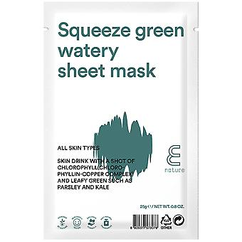 E-Nature Feuchtigkeitsspendende Maske Squeeze Green Watery Sheet