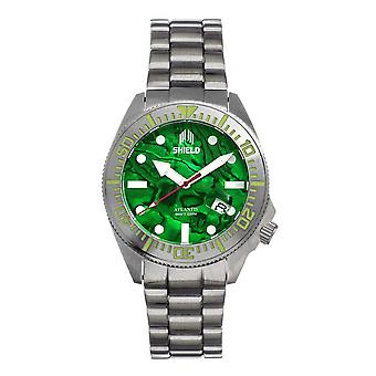 Shield Atlantis Automatic Green Dial Men's Watch SLDSH108-3