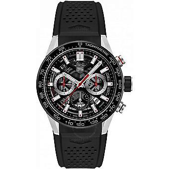 Tag Heuer Carerra Chronograph Automatic Black Skeleton Dial Men's Watch CBG2010.FT6143