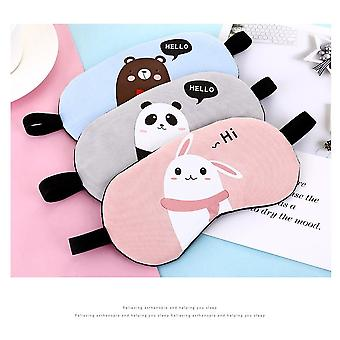 5Pcs/lot sleeping eyepatch sleep blindfold eye cover mask with cotton creative lovely cartoon skin friendly design for relax