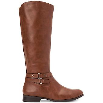 Style & Co. Womens Kindell läder Closed Toe Mid-kalv Fashion Boots