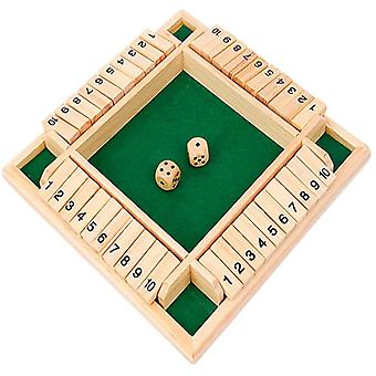 ND Shut The Box Dice Game Wooden 4 Player Pub Board Games Number Drinking Board Game Classic Dice