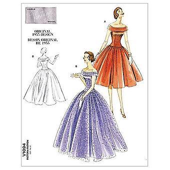 Vogue Coser Patrones 1094 Misses Vestido, Tamaño EE (14-16-18-20)