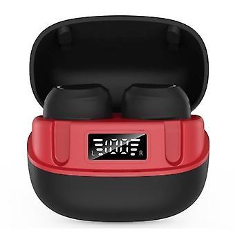 U6 TWS in-ear BT hodetelefoner med LCD-digital skjerm touch-control headsets