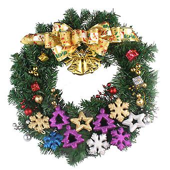 Christmas Led Wreath Garland Pendant  Flower Xmas Decoration