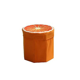 Creative Fruit Folding Storage Organizer Ottoman Stool