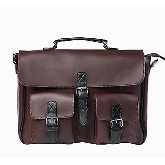 Men Leather Bag, Men's Laptop Briefcase Bag