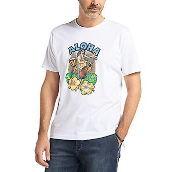 Pioneer Logo T-Shirt Crew Neck, White (White 10), XL Men's