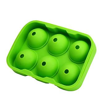 Round Ice Cube Ball Maker Tray Silicone Sphere Mold(16.5*11.5*5cm,Green)
