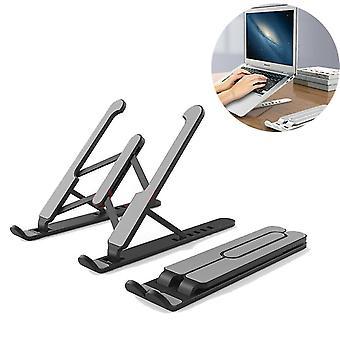 Musta kannettava kannettava jalusta, taitettava tukialusta kannettavalle tietokoneelle ja tabletille az908