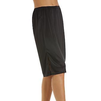 Camille Black Half Length 24'' Womens Slip Cling Resistant