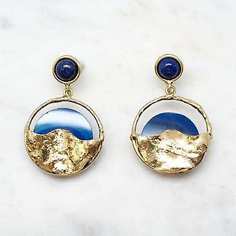 Boucles d?oreilles Niiki Paris - NCE150 - Bleu - Collection Colors