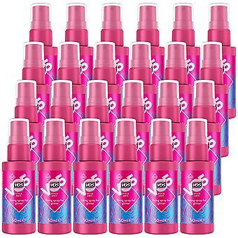 VO5 New Style Edit Fixing Spray For Glitter Hair, 50ml - 24Pk