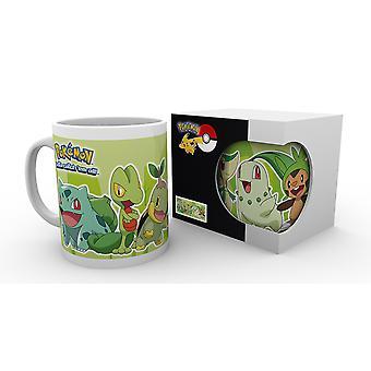 Pokemon gräs partner mugg
