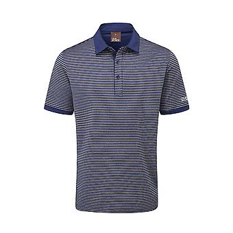 Oscar Jacobson Mens Polo Shirt Short Sleeve Performance 2 Buttons Top