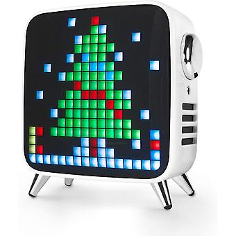 Divoom Tivoo ماكس بكسل LED الفن بلوتوث المتكلم مع 41W قوة الانتاج، المدمج في البطارية والتطبيق الذكي، أبيض
