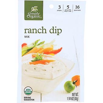Simply Organic Dip Mix Ranch Org, Case of 12 X 1.5 Oz