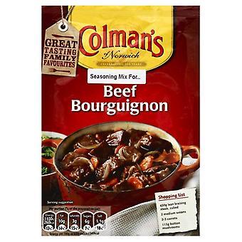 Colemans Mix Ssnng Beef Bourguigno, sag af 16 X 1,4 Oz