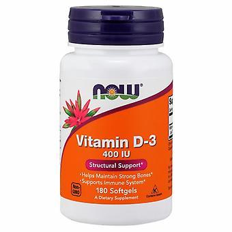 Nyt Elintarvikkeet Vitamiini D-3 400 IU, 180 Softgels